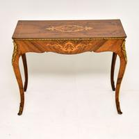 Antique Victorian Marquetry Top Console Table (2 of 12)