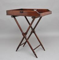19th Century Mahogany Butlers Tray on Stand (3 of 10)