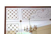 Italian Mahogany Chateau Overmantle or Wall Mirror c.1950 (2 of 9)