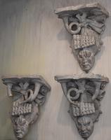 Set of Three Georgian Plaster Wall Brackets (2 of 13)