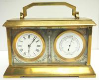 Fine Antique French 8-day Combination Thermometer, Clock & Barometer Carriage Clock Timepiece by Frodsham c.1890 (2 of 10)