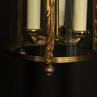 French Gilded Convex Antique Hall Lantern (3 of 7)