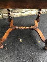 Antique Oak Barley Twist Extending Dining Table (2 of 9)