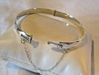 """Vintage Sterling Silver Bangle 1971 Silver Fancy Bracelet 7"""" Length 19.6 Grams (4 of 11)"""