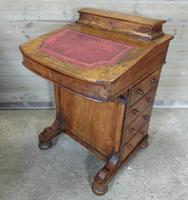 Antique 19th Century Walnut Inlaid Davenport Desk (11 of 11)