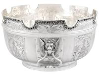 Sterling Silver Monteith Bowl - Antique Edwardian 1905 (2 of 18)