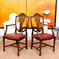 Dining Table & 8 Chairs Mahogany 3.2 Metres Long Hepplewhite Stalker (12 of 16)