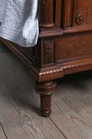 Beautiful Carved Walnut European King Size Bed (6 of 13)