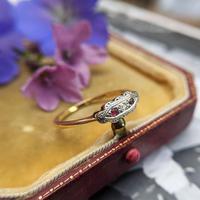 Art Deco 18ct Yellow Gold, Platinum, Ruby & Diamond Trilogy Ring, Antique (7 of 9)