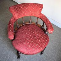 Victorian Walnut Tub Back Chair (2 of 8)