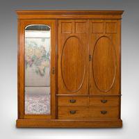 Antique Master Bedroom Wardrobe, Satinwood, Cupboard, Maple & Co, Edwardian (2 of 12)