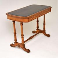 Antique Victorian Satinwood Writing Table by Heal & Son (3 of 15)