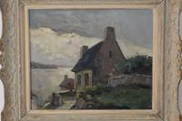 Old Cottage Overlooking The Coast - Oil on Canvas (7 of 10)