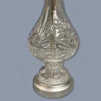 Single Tall Cut Glass Table Lamp, Rewired (3 of 4)