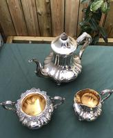 19th Century Silver Plated 3 Piece Tea Set (4 of 5)
