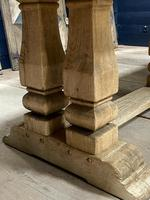 Huge French Bleached Oak Monastery Dining Table (20 of 30)