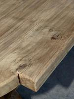 Large Rustic French Bleached Oak Farmhouse Dining Table (10 of 40)