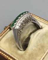 Platinum Set Emeralds & Diamonds Ring (8 of 11)