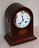 Mahogany Arch Top Mantel Clock (10 of 10)