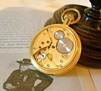 Vintage Swiss Waltham Pocket Watch 1970s 17 Jewel 12ct Gold Plated Half Hunter FWO (11 of 12)