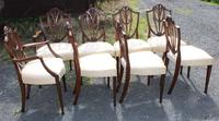 1960's Mahogany Set 8 Wheatcheaf Design Dining Chairs with Pop Out Seats (2 of 3)