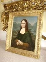 Mona Lisa Old Master 18th Century Oil Portrait Painting on Canvas after Leonardo Da Vinci (3 of 9)