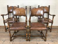 Set of Four Antique Leather Armchairs (14 of 16)