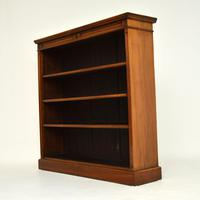 Antique Victorian Walnut Open Bookcase (5 of 11)