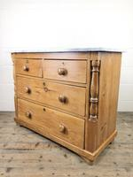 Antique Pine & Marble Chest of Drawers (4 of 15)