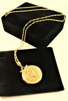 Edwardian Hallmarked 9ct Gold Engraved Locket with Necklace Chester Assayed (3 of 9)