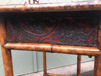 Antique Lacquered Bamboo Desk (3 of 11)