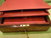 Beautifully Inlaid Rosewood Jewellery Box. Unusual Interior c.1865 (10 of 14)