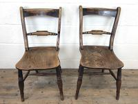 Pair of 19th Century Elm Bar Back Farmhouse Chairs (4 of 7)