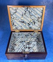 George III Rosewood Tunbridge Ware Box with Specimen Wood Inlay (15 of 15)