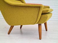 Danish Design, 70s, Completely Restored Armchair, Furniture Wool, Teak Wood (12 of 13)