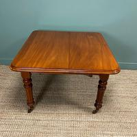 Small Quality Mahogany Antique Victorian Extending Dining Table (7 of 9)