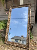 Antique French Mirror with Gesso Moulding