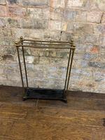 Brass & Steel Umbrella Stand (3 of 5)