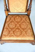 Victorian Walnut Occasional Chair (5 of 11)