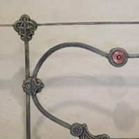 Cast Iron Antique Bed with Copper (6 of 9)