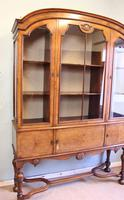 Quality Antique Walnut Display Cabinet (14 of 19)