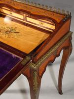 A Small Late 19th Century Satinwood and Rosewood Bureau de Dame (6 of 6)