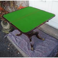 Classical Regency Rosewood Card Table (2 of 9)
