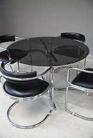 Retro Chrome Glass Dining Table (9 of 13)