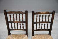 Pair Antique Oak & Rush Lancashire Chairs (8 of 11)