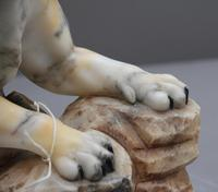 Early 20th Century Alabaster Tiger Sculpture (11 of 11)