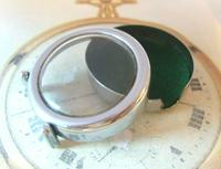 Vintage Smiths or Ingersoll Pocket Watch Case 1940s Original Chrome Bedside Case (4 of 11)