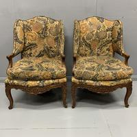 Pair of French Wing Armchairs (9 of 9)