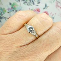 Art Deco 18ct Platinum Old Cut Diamond Solitaire Engagement Ring 0.35ct c.1920 (8 of 11)