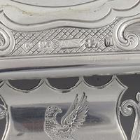 Antique Victorian Silver Double Inkstand With Taperstick & Stamp Box (12 of 15)